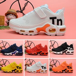 Wholesale 2018 kids Cushion designer shoes Children boy girls tn Red pink Triple Black White Infant toddler Walking Sports Athletic Sneakers