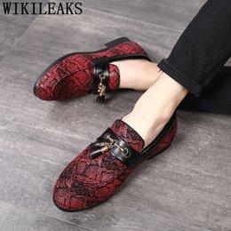 Men Slip Suits Australia - formal shoes men suit office shoes men classic loafers elegant coiffeur luxury italian brand sepatu slip on pria bona