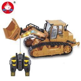 Discount slot car tracks - 2017 New Rc Truck 6ch Bulldozer Caterpillar Track Remote Control Simulation Engineering Truck Christmas Gift Constructio