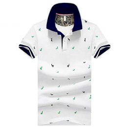 $enCountryForm.capitalKeyWord Australia - Men Summer Fashion Polo 2019 Designer Mens Casual Solid Color Fashion Polo Shirts Men Brand Print Deer Pattern Polo Men Tops Plus Size M-4XL