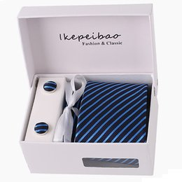 $enCountryForm.capitalKeyWord Australia - Gift box 20 Styles Solid Mens Skinny Ties Fashion Plain Gravata Ties Jacquard Woven Silk Ties for Mens Wedding Suits Cravate