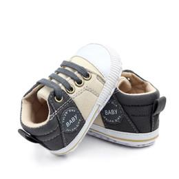 $enCountryForm.capitalKeyWord Australia - Baby Shoes Classic Canvas Baby Boy Shoes Spring Cotton Straps Stitching Newborn Boy Girl Shoes First Walker Prewalker