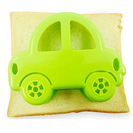 cake car moulds Australia - Fondant Molds Cupcake Fondant Cake Decorating Tools Sandwich Cutter Green Car Shape Cake Bread Toast Mould Maker TSLM2