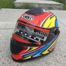 Dual Lens Half Helmet Australia - New motorcycle helmet with dual - lens cross - country racing bike thermal running helmet full helmet
