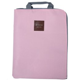 Big Bags storage online shopping - Simple Solid A4 Big Capacity Document Bag Business Briefcase Storage File Folder for Papers Stationery Student Gift Pink