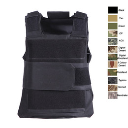 Outdoor Sports Outdoor Camouflage Body Armor Combat Assault Waistcoat Tactical Molle Vest Plate Carrier Vest SO06-009 on Sale
