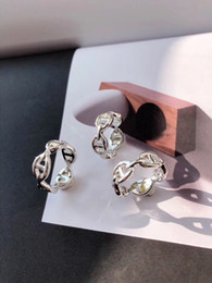 Discount charms pure silver - S925 pure silver paris design women hollow ring decorate and logo stamp logo charm in 6-8# US Size women jewelry PS6499