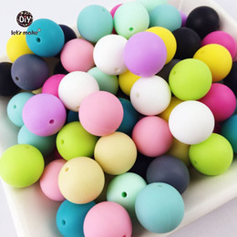 $enCountryForm.capitalKeyWord Canada - Let's Make 100pc Silicone Baby Teething Teether Beads 12- 20mm Safe Food Grade Nursing Chewing Round Silicone Beads Necklace