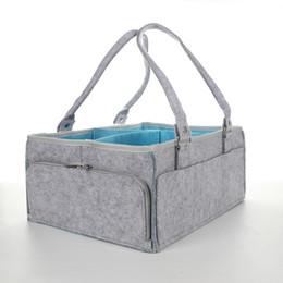 $enCountryForm.capitalKeyWord Australia - Felt Cloth Storage Bag Foldable Baby Large Size Diaper Caddy Changing Table Organiser Toy Storage Basket Car Travel Organizer