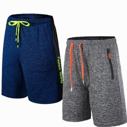boxers fly Australia - Wholesale-Men Sports Running Football Shorts Outdoor Fitness Exercise Gym Soccer Basketball Jogging Jogger Boxer Shorts with Zip pocket