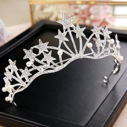 Rhinestone Star Ring Australia - 2019 Bling Beaded Crystals Wedding Crowns Bridal Diamond Jewelry Rhinestone Headband Hair Crown Luxury Women Jewelry