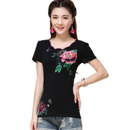 $enCountryForm.capitalKeyWord Australia - Quality 4XL Embroidery Women T-Shirts Vintage Slim Pullover T Shirt Clothing Cotton Blusas Feminina Summer Casual Body Tops Tee T5190603
