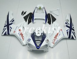 Discount triumph 675 blue white fairing New ABS Injection Mold Motorcycle Fairings Kits Fit for Triumph Daytona 675R 675 2006 2007 2008 06 07 08 White Blue