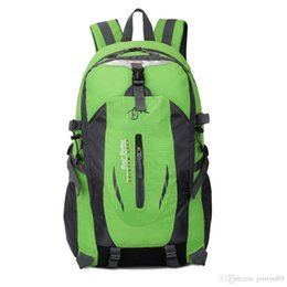 green packaging UK - New Waterproof High Capacity Outdoor Hiking Backpacks Light Weight Wear Resistant Traveling Bags Breathable Multi-function Sports Packages