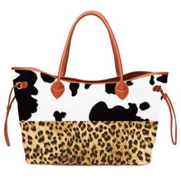 $enCountryForm.capitalKeyWord NZ - Patchwork Printed Cow Tote Wholesale Blanks Leopard Bullskull Handbag Women Stripes Endless String Travel Bag DOM1061226