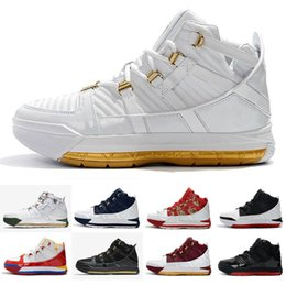 2b6ec425bd81 2019 New Arrival  23 Zoom Lebron III 3 Home SuperBron Men s Basketball Shoes  Best quality White Blue Red Black Chaussures EUR 40-46