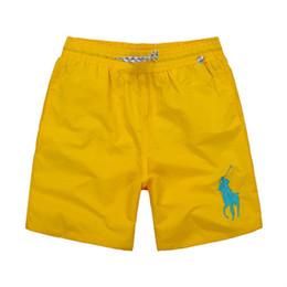 $enCountryForm.capitalKeyWord Australia - Wholesale Fashion Men's Big horse Embroidery Beach pants Design Summer POLO Shorts For man Swim Wear Board Quick drying Shorts