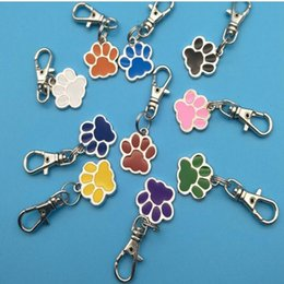 best sale handbags Australia - Hot Sale Drop Glaze Dog Paw Prints Keyring Handbag Animal Claw LOGO Rotating Lobster Clasp Couple Package Designer Keychain Best Friend Gift