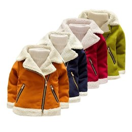 $enCountryForm.capitalKeyWord Australia - Fleece Thicken Faux Suede Boys Baby Warm Jacket for Fall Winter Leather Coat for Toddler Girls Kids Children's Clothes