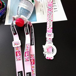 bottle lanyards UK - 2020 Children Universal Drink Bottle Strap Water Bottle Buckle Lanyard Travel Portable Kettle Diagonal Strap Lanyard Water Bottle Buckle