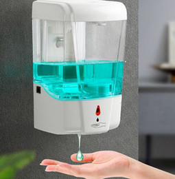 venda por atacado Soap automática 700ml Dispenser Touchless Smart Sensor Banho dispensador de sabão líquido Handsfree Touchless Sanitizer Dispenser KKA7901