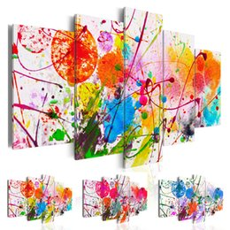 Abstract Designs Pictures Australia - ( No Frame ) Canvas Print Colorful Watercolor Abstract Design for Home Decoration Modern Fashion Large Painting Choose Color & Size