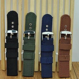 $enCountryForm.capitalKeyWord Australia - reloj 18mm 20mm 22mm 24mm Men's Nylon Wrist Watch Band Buckle Strap watch strap New