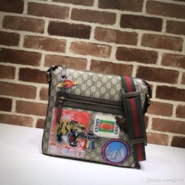 Vente en gros Top qualité hommes sac à bandoulière mode vente chaude dames lettre en cuir véritable sacs à bandoulière pour homme W29h27.5d3cm # 406408