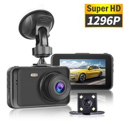 super hd hidden camera Australia - New Car DVR 1296P Super HD Dash Camera With Rearview Camera Hidden Dual Lens Driving Video Recorder 170 Degrees Auto Dashcam 3""