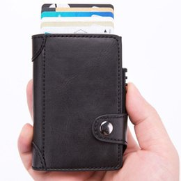 $enCountryForm.capitalKeyWord Australia - 2019 Credit Card Holder Men and Women New PU Leather Card Wallets Aluminum Single Box RFID Blocking Package ID Holders Black