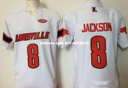 dd83082f0 Mens NCAA Louisville Cardinals Lamar Jackson College Football Jerseys  Stitched  8 Lamar Jackson Jersey S-3X