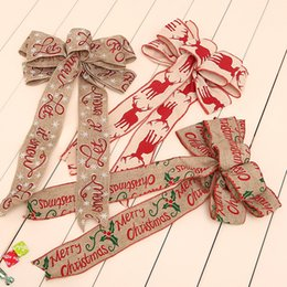 Tree knoTs online shopping - Printing Butterfly Knot Ripple Forest Pattern Christmas Tree Pendants Linen Cloth Multi Styles Bowknot New Arrival gsa L1