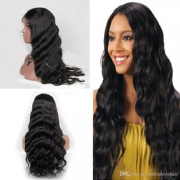 $enCountryForm.capitalKeyWord Australia - Body Wave Indian Remy Lace Front Wig For African American Glueless Virgin Human Hair Real Lacefront Body Wave Full Lace Wigs Baby Hair