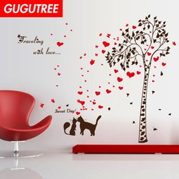 $enCountryForm.capitalKeyWord Australia - Decorate Home trees love heart cartoon art wall sticker decoration Decals mural painting Removable Decor Wallpaper G-2313