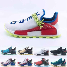 Deep Discount Shoes Australia - High Quality New Human Race Pharrell Williams Men Women Running Shoes Discount Cheap Sneaker Sports Shoes