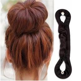 Diy hair holDer online shopping - 1PC Fashion DIY Women Magic Twist Bun Roller Hair Braider Braid Holder Clip Hair Soft Hairband Balck Braiding Tool