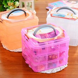 Eco Friendly Makeup Organizer Australia - Eco-Friendly Makeup Organizer Three Removable Transparent Plastic Storage Box Grid Cosmetic Hair Accessories