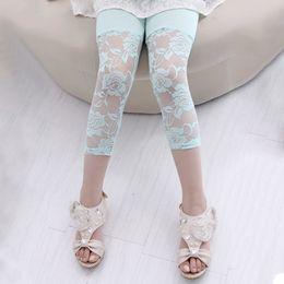 $enCountryForm.capitalKeyWord Australia - Summer Toddler Kid Baby Girl Flower Ballet Dance Lace Leggings Cropped Pants Kids Clothes 2-7y