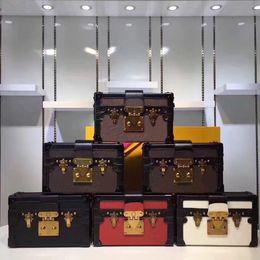 Bag crochet white online shopping - Designer clutch Box Original Handbags Evening Bags Excellent Quality Leather purse Fashion Box Brick Messenger Shoulder Bag