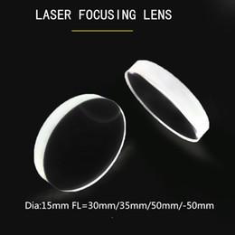 Wholesale Fiber laser focus lens Dia 15mm FL=30mm 35mm 50mm -50mm H-K9L 1064nmAR Plano-concave optical mirror high transmittance for laser machine