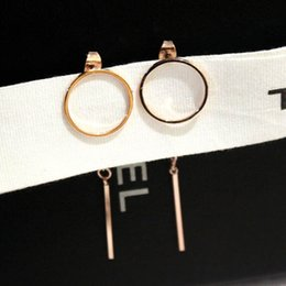UniqUe stUd earrings for girls online shopping - hot sale fashion designer unique geometry metal tassel long drop stud earrings for woman girls gold silver