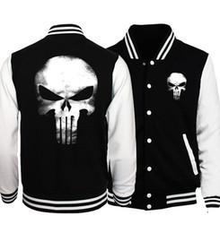 $enCountryForm.capitalKeyWord NZ - novelty skull men baseball jackets 2017 The Punisher fashion unisex sweatshirt casual button brand tracksuit women spring autumn