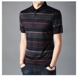 designer tshirts mens Australia - Contrast Mens Polo Blouse Male Turn Tshirt Designer Mens Clothing Tshirts Casual Collar Striped Color Down Print Endxe