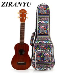 Polyester Guitar NZ - High Quality 21 inch soprano 23 inch concert Padded Ukulele Bags Ukulele Soft Gig Bags Small Guitar Cases