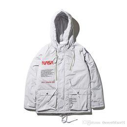 Men Military coat sliM online shopping - New NASA Flight Pilot Mens Designer Jackets Bomber Ma1 Bomber Jacket Windbreaker Military Section Mens Jacket Baseball Coats M XXL