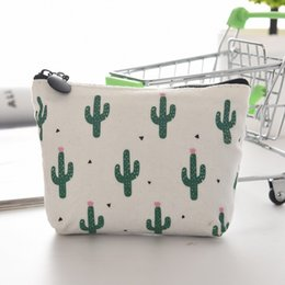 kids small pouch 2019 - wholesale eTya Cartoon Cute Small Kids Women's Purse Coin Wallet Coin Purse Money Pouch Cactus Change Pouch Key Hol