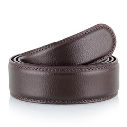 Canvas Cow Prints UK - 2019-01 Men's 2-layer leather 3.5 Men's belt automatically buckles headless cow belt