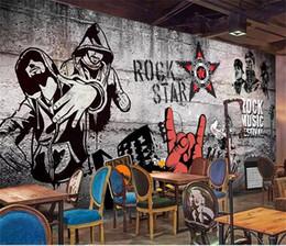 $enCountryForm.capitalKeyWord Australia - custom size 3d photo wallpaper living room mural retro nostalgic hip hop rock music bar KTV background wall wallpaper non-woven wall sticker