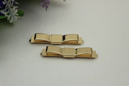 $enCountryForm.capitalKeyWord Australia - 50MM Metal Bow Clip Buckle Golden DIY Shoes Bag Luggage Clothing Plating Hardware Deco Accessories Buttons