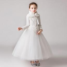 Цветок Ребенок Платье Принцесса Партия Свадьба Невесты Вечернее Платье Девушка Длинные Платья на Распродаже